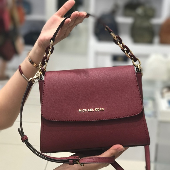 44d72010e06a Michael Kors Sofia Small Satchel Leather Crossbody